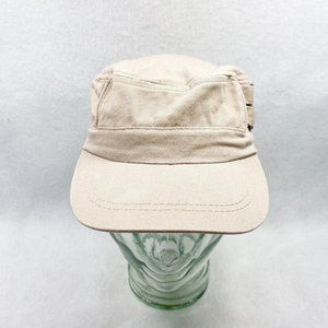 Khaki Cotton Military Cap By Tickled Pink OSFM
